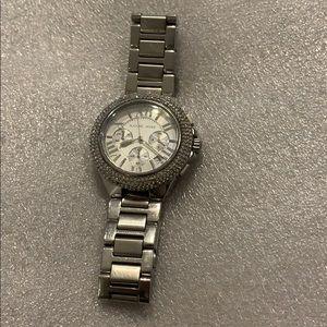 Michael Kors Watch Silver With Swarovski Crystals